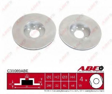 Диск тормозной ABE C31089ABE