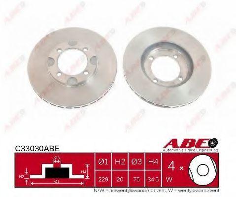 Диск тормозной ABE C33030ABE