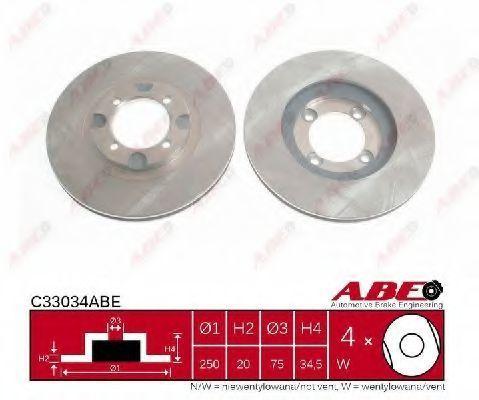 Диск тормозной ABE C33034ABE