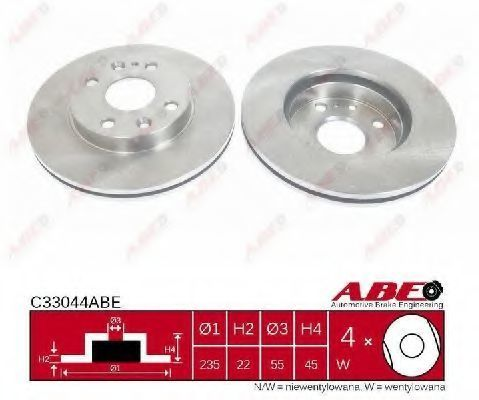 Диск тормозной ABE C33044ABE