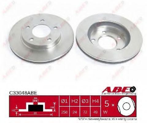 Диск тормозной ABE C33048ABE