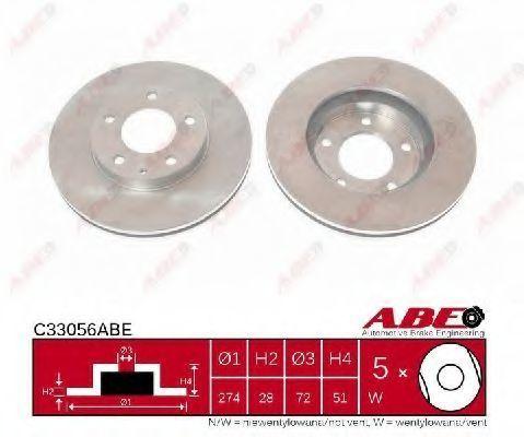 Диск тормозной ABE C33056ABE