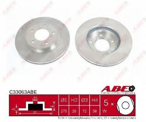 Диск тормозной ABE C33063ABE