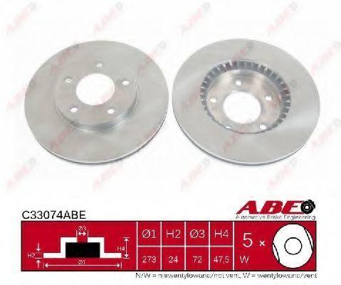 Диск тормозной ABE C33074ABE