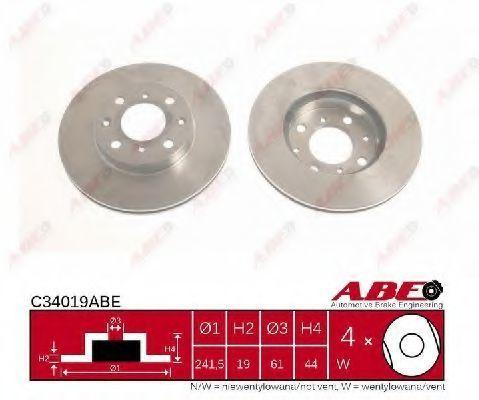 Диск тормозной ABE C34019ABE