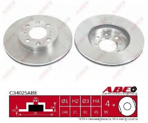Диск тормозной ABE C34025ABE