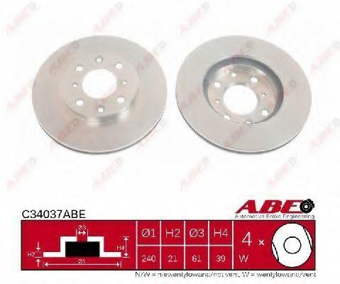 Диск тормозной ABE C34037ABE
