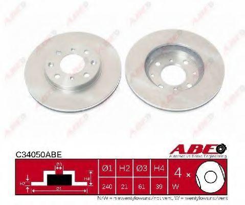 Диск тормозной ABE C34050ABE