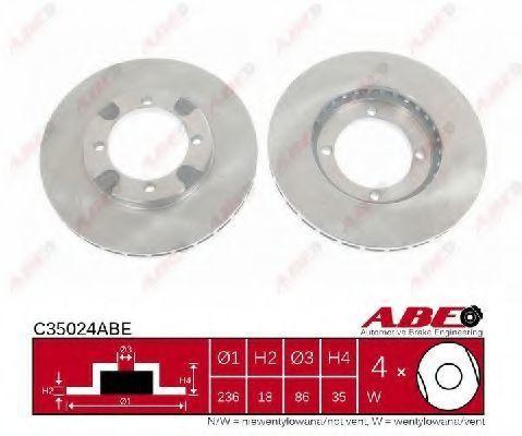 Диск тормозной ABE C35024ABE