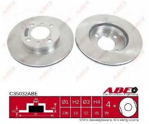 Диск тормозной ABE C35032ABE