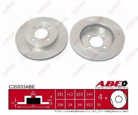 Диск тормозной ABE C35033ABE