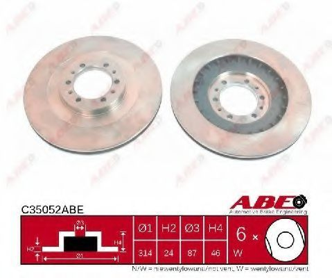 Диск тормозной ABE C35052ABE