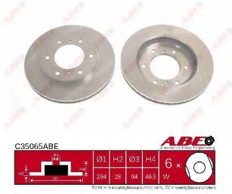Диск тормозной ABE C35065ABE