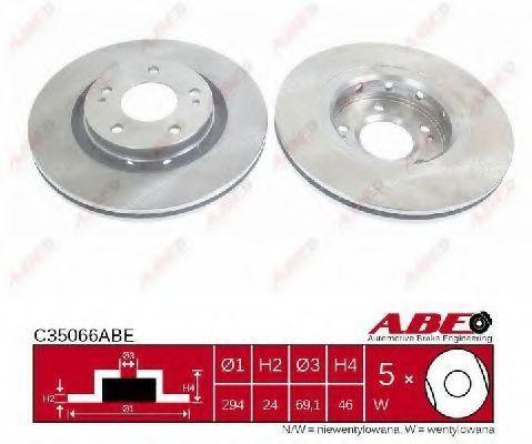 Диск тормозной ABE C35066ABE