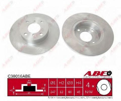 Диск тормозной ABE C38016ABE
