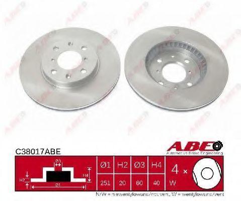 Диск тормозной ABE C38017ABE
