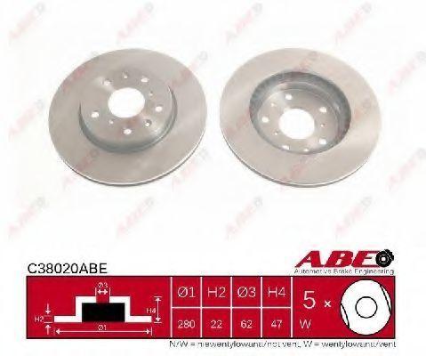 Диск тормозной ABE C38020ABE