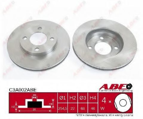 Диск тормозной ABE C3A002ABE