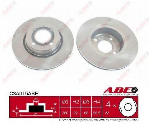 Диск тормозной вентилируемый ABE C3A015ABE