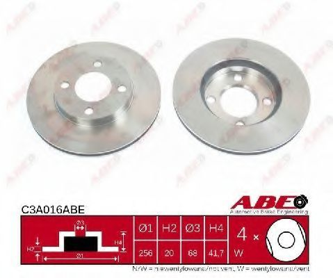 Диск тормозной ABE C3A016ABE