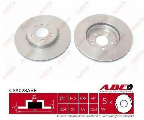 Диск тормозной ABE C3A028ABE