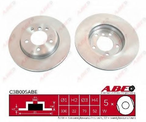 Диск тормозной ABE C3B005ABE