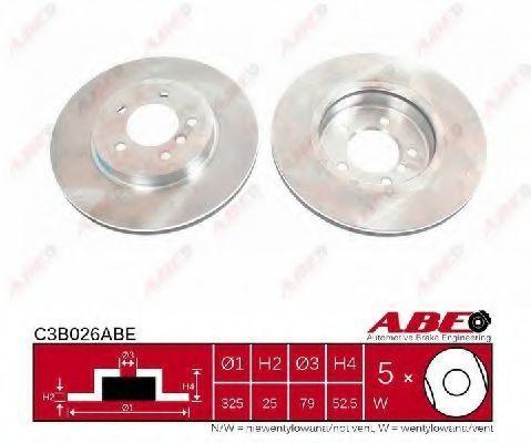 Диск тормозной ABE C3B026ABE