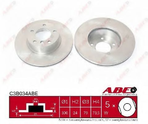 Диск тормозной ABE C3B034ABE
