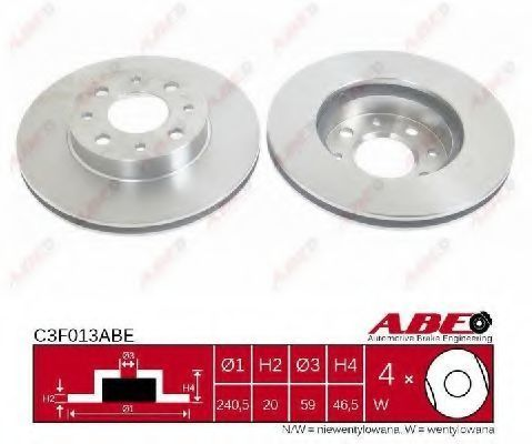 Диск тормозной ABE C3F013ABE