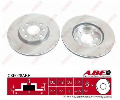 Диск тормозной ABE C3F028ABE