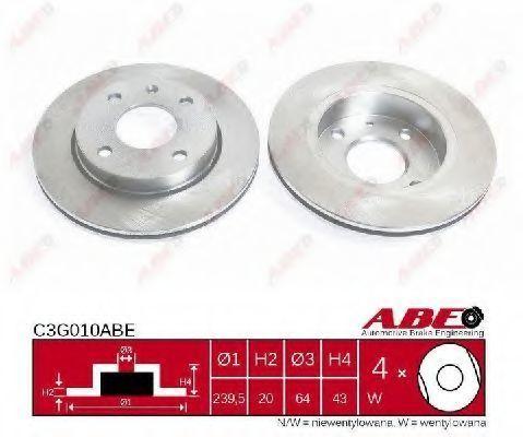 Диск тормозной ABE C3G010ABE