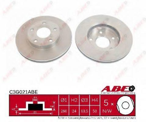 Диск тормозной ABE C3G021ABE