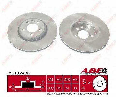 Диск тормозной ABE C3K012ABE