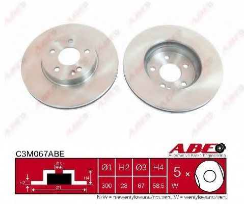 Диск тормозной ABE C3M067ABE