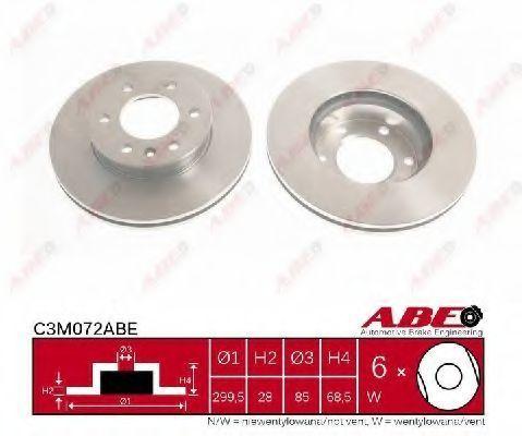 Диск тормозной ABE C3M072ABE