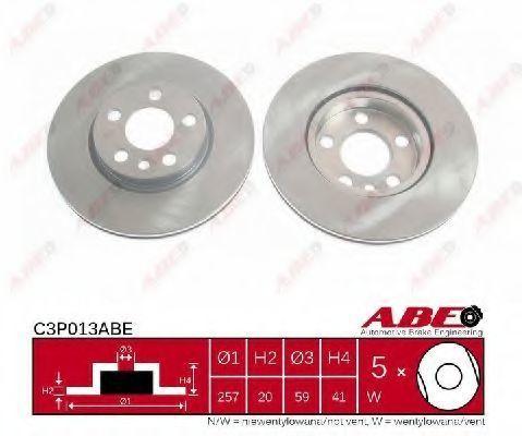Диск тормозной ABE C3P013ABE