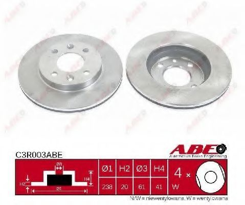 Диск тормозной ABE C3R003ABE