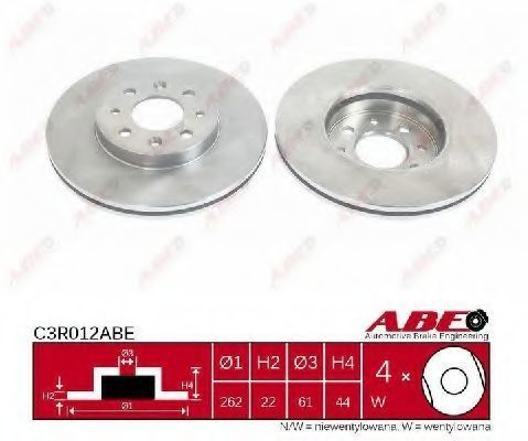 Диск тормозной ABE C3R012ABE
