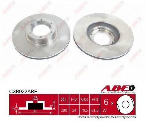 Диск тормозной ABE C3R022ABE