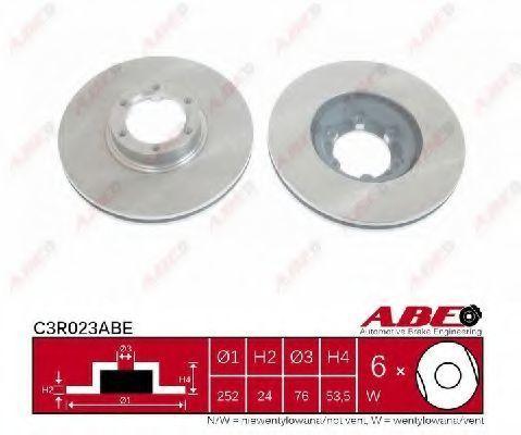 Диск тормозной ABE C3R023ABE