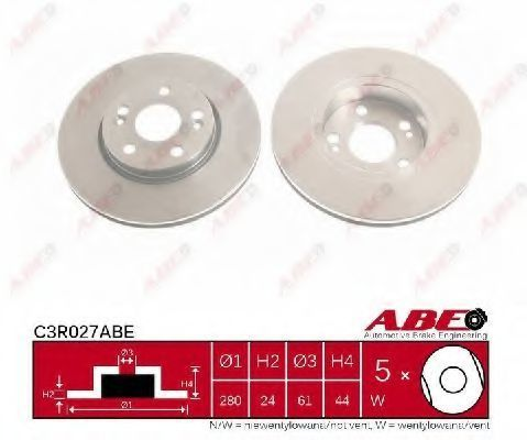 Диск тормозной ABE C3R027ABE
