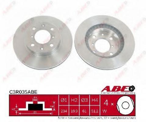 Диск тормозной ABE C3R035ABE