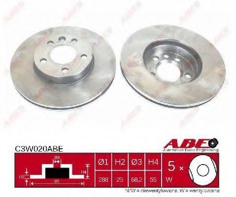 Диск тормозной ABE C3W020ABE