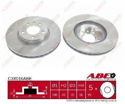 Диск тормозной ABE C3X016ABE