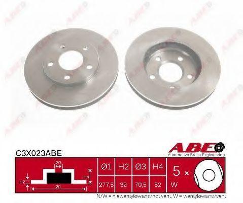 Диск тормозной ABE C3X023ABE