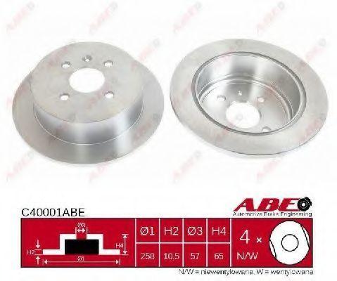 Диск тормозной ABE C40001ABE