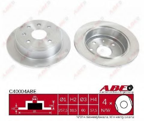 Диск тормозной ABE C40004ABE