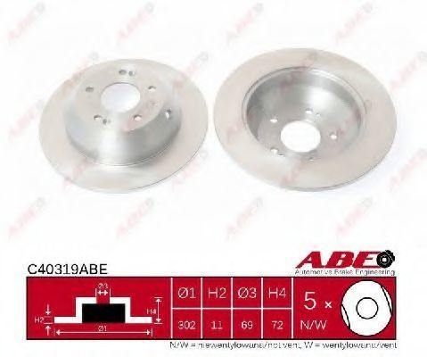 Диск тормозной ABE C40319ABE