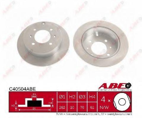 Диск тормозной ABE C40504ABE