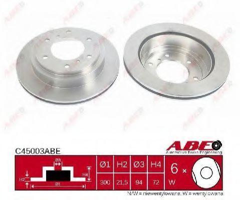 Диск тормозной ABE C45003ABE